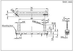 75mm Fader Mixer B10K Zwei-Kanal-Vertikal Schiebepotentiometer B103