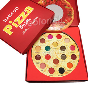 Più nuovo IMEAGO Pizza Ombretto tavolozza 18 colori trucco Ombretto Delicious condimenti Matte bronzine shimmer Palette Blush DHL libero