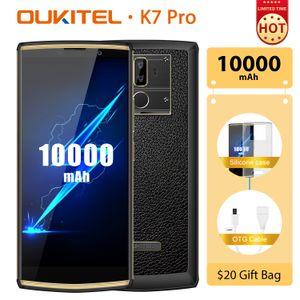"""Pro 10000mAh 9V / 2A Quick Charge Android 9.0 Smartphone Octa Nucleo 4GB 64GB 6.0"""" FHD + 18 OUKITEL K7: Telefono Face ID mobile 9 dello schermo"""