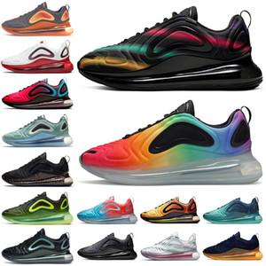 Nike air max 720 China SER VERDADE Triplo Preto Sunrise Sunset 720OG Designer de sapatos preto Neon Streaks Hot Lava-de-rosa Universidade Mar Vermelho Azul Sneakes