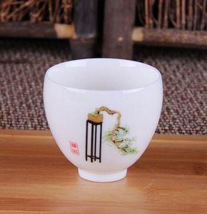 Kung Fu Chinese Tea Cup Juegos de té de cerámica Blanco porcelana y Celadon Tea Cups S