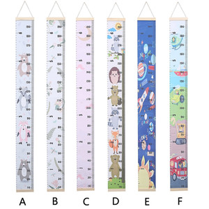 Kids Cartoon Body Height Ruler Wall Hanging Children Room Decor Oil Canvas Measure Banner North Europe Home Decoration M2113