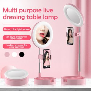 Phone Holders With Led Camera Selfie Ring Light Makeup Lamp With Adjustable Stand Live Dressing Table Lamp Selfie Photography G3