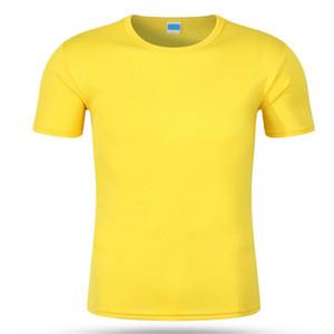Лето с коротким рукавом обычная футболка мужчины сплошной цвет повседневная хлопок пустой тройники мужские топы одежда Мужские футболки