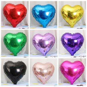 18 дюймов Сердце Фольга шар в форме фольги шары День Святого Валентина Свадьба День Рождения Домашнее украшение шары фестиваль