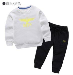 Klasik Lüks Logo Tasarımcısı Bebek tişört pantolon ceket jacekt hoodle kazak Olde Suit Çocuk moda Çocuk 2adet Pamuk Giyim GA597 ayarlar