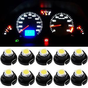 10 PCS T3 T4.2 T4.7 자동차 LED 조명 장비 1210 1SMD 자동차 실내 신호 전구 7 색
