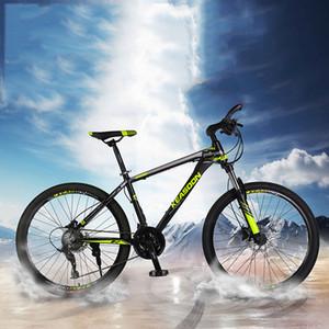 Mountain bike Lega di alluminio per uomini e donne adulti Velocità variabile Off Road Student Shock Road Bicicletta leggera