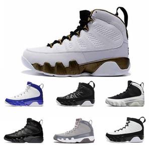2020 Nike Air Jordan Retro 9 s Paspas Melo erkekler basketbol ayakkabı 9 OG Tur Sarı PE Antrasit Ruh Johnny Kilroy 2010 yayın spor Sneakers eğitmenler