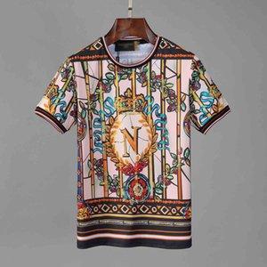 2020 summer suit men designer short-sleeved T-shirt personalized fashion printing trend half-sleeved male