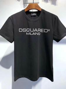 DSQUARED2 D2 DSQUARED 2 DSQ 20ss Disco Punk Imprimir Itália Designers T-shirt dos homens camisetas Streetwear Homens Mulheres Shorts T-shirt Harajuku Tops Curto T Roupa DT524