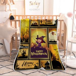 Mantas Halloweens Manta individual de aire acondicionado impresa digitalmente Manta Niños calabazas adultas Capa Hallowee Capa Chal Fleece Wrap GGA2660