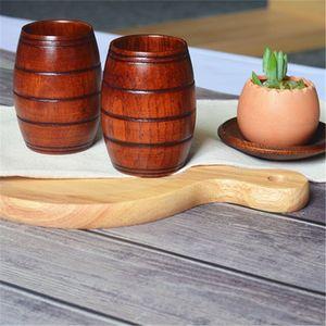 10,5 * 6,5 centímetros Copa Madeira Primitive Handmade Natural de madeira canecas almoço Beer Leite Copos Outdoor Camping copo de cerveja T2I5269-1