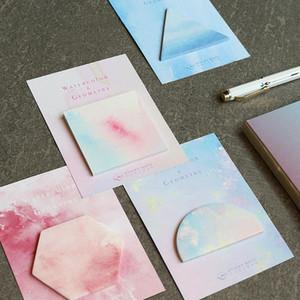 Sevimli Rüya Serisi Sabit Suluboya Geometri Notları Mesaj Memo Pad Okulu Çıkartma Planlayıcısı Kağıt İşaretleyiciler Kawaii Kore Kırtasiye