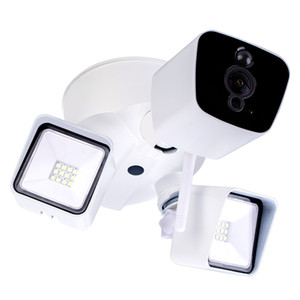 1080P Security Camera with Light Floodlight Camera Motion-Activated HD Security IP Camera with Night Vision