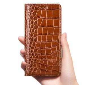 Crocodile Genuine Flip Leather Case For Samsung Galaxy J2 J3 J4 J5 J6 J7 J8 Prime Core Pro Plus 2015 2016 2017 2018 Phone Cover