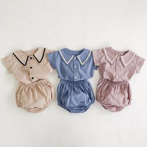 MILANCEL летний мальчик одежда опрятный стиль одежды младенца девочек хлопок тройник и Блумер набор ребенка