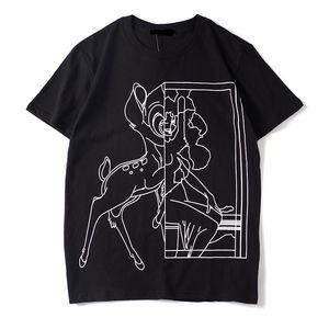 Men T Shirt 2020 Summer New Designer Tshirts Luxury Tshirt Short Sleeve Deer Print Funny Top Tees 2020