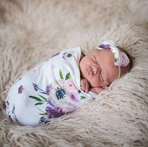 الرضع حديثي الولادة الطفل قمط أكياس النوم طفل الشاش بطانيات + العصابة الطفل القطن الناعمة شرنقة النوم كيس العصابة 2PCS مجموعة A287