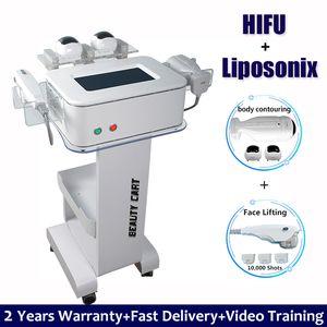 2 Handles HIFU Liposonix Liposuction Machine High Intensity Ultrasound Fat Removal Belly Slimming Liposonix Treatment Machines