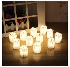 24 ШТ. СВЕТОДИОДНЫЕ Электрические Аккумуляторные Черное ядро Tealight Свечи Теплые Белые Беспламенные свечи Праздничные Свадебные Украшения