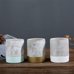 Kerzenhalter Aromatherapie European American Style Bougie Cup Aromatherapie Kreative Zement Tassen CafÉ Tisch Dekorieren Ornament 3 8mc p1