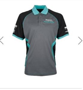 Jaguar Racing camisola homens e luva Sports curta Camisa Polo de Mulheres Competição Sportswear manga curta T-shirt de secagem rápida Jersey Homens