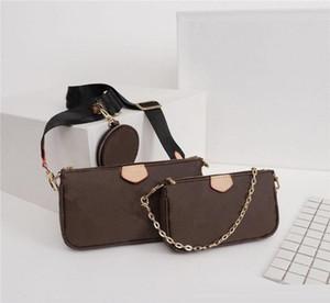 Bolsos de cuero bolsos de Crossbody de las mujeres 2019 del diseñador bolsas de mensajero de 3 piezas Set Accesorios envío