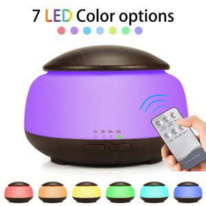 Air Ultrasonic Humidifier Aroma Essential Oil Diffuser wood grain Humidifier With LED Night Lights Home Car Air Freshener GGA1855