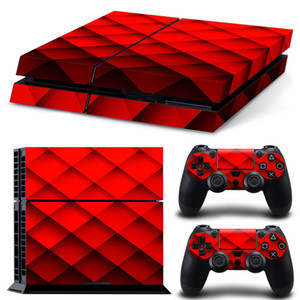 Fanstore Skin Sticker Lattice Design Vinyl Decal for Playstation PS4 Console and 2 Remote Controller Popular Design