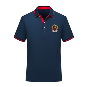 OGC Nice 2020 yaz moda pamuk futbol polo gömlek erkekler kısa kollu yaka polo futbol erkekler polo gömlek eğitim forması Erkekler Polos
