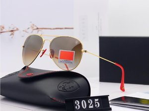New classic men's and women's fashion sunglasses metal frame glass hd lenses