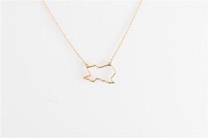 5 STÜCKE Umriss USA Texas State Karte Halskette Einfache Geometrische Hohle Geographie Offene Linie Erdkugel Welt Amerikanischen TX Stadt Halsketten