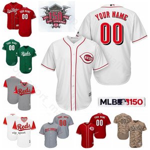 Béisbol 14 Pete Rose jerseys 5 Johnny Bench 30 Ken Griffey Jr., Frank Robinson 20 11 Barry Larkin 8 Joe Morgan Nombre personalizado