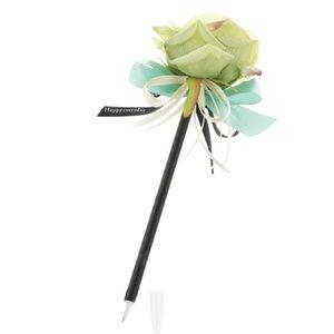 Rosa Fiore artificiale Guest Book Signing Supplies Pen festa di nozze