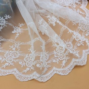 Embroidery lace Fashion women's dress accessories 27CM mesh lace computer embroidery milk silk embroidery water soluble mesh lace