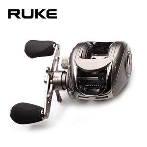 Ruke рыболовная катушка Casting Reel Передаточное 5,1: 1 алюминиевая шпуля Магнитный подшипник Тормоз 5 + 1 EVA Ручка 218g Макс Drag 4.5KG T191015