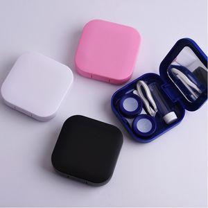 Kontakt lens çantası Göz arkadaşı kutusu bakım kutusu Güzellik arkadaşı kutusu Kare pürüzsüz yüzey DIY 10 yapabilirsiniz