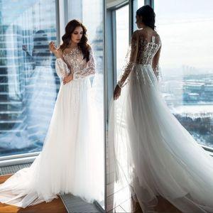 2020 новые свадебные платья пляж a-line свадебное платье материнства беременных свадебные платья с длинным рукавом белое кружево Boho