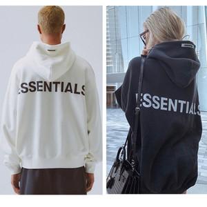 E-Baihui delle donne degli uomini del progettista con cappuccio Essentials riflettente manica lunga Fleece Hoodie di moda Felpe Solid asiatico formato S-XL