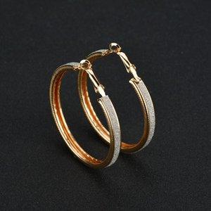 ZCHLGR Big Hoop Earrings Gold Silver Color Hoop Earring For Women Men Ear Rings Clip Colored Circle Earrings