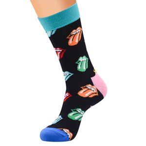Online hot selling funny design custom men happy socks wholesale mismatch crew sock men