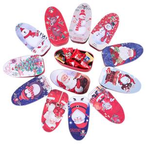 Weihnachten Tinplate Pralinenschachtel rechteckig Tinplate Keksdosen Weihnachtshochzeits-Süßigkeit Biscuits Lagerung Tins Kinder Sweetiey Geschenke können
