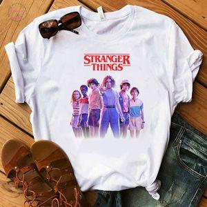 Harajuku Stranger Things Stagioni 3 T Shirt Donne Streetwear Shirt T rovesciata divertente bicchierini del manicotto Vintage Camiseta Graphic Top