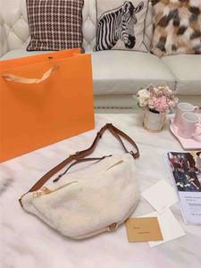 Роскошная сумка талии женщины конструктора талии сумка склонный мешок плеча Lamb волос Satchel плюша высокого качества способа Новая осень и Winte