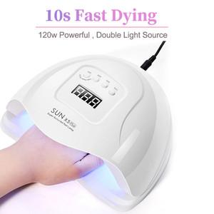 SUN X5 plus LED lampe UV pour les ongles Sèche-120W LED Lampe UV pour manucure Gel ongles séchage Gel ongles Vernis