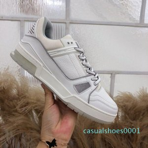 Estrela Designer Tripler sapatilha Men sapatos femininos sapatos Roxo Branco Vintage Leather Sapatos casuais Luxo Lace-Up Low Top SneakersAC01