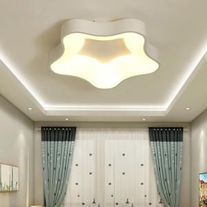 Beyaz Gri Modern Salon Yemek odası Dim Demir Akrilik Aydınlatma Lambası Çocuk Işıklandırma Luminaria İçin Tavan LED Işıklar
