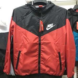 2020 new Fall thin windrunner Hombres Mujeres ropa deportiva tela impermeable de alta calidad Hombres chaqueta deportiva Moda cremallera con capucha más el tamaño 3XL