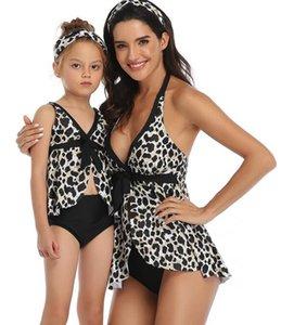 popolare Leopard Print bambini pezzo ragazza una vita alta che copre stopach sottili donne conservatrici yakuda eleganti flessibile insiemi del bikini stampato